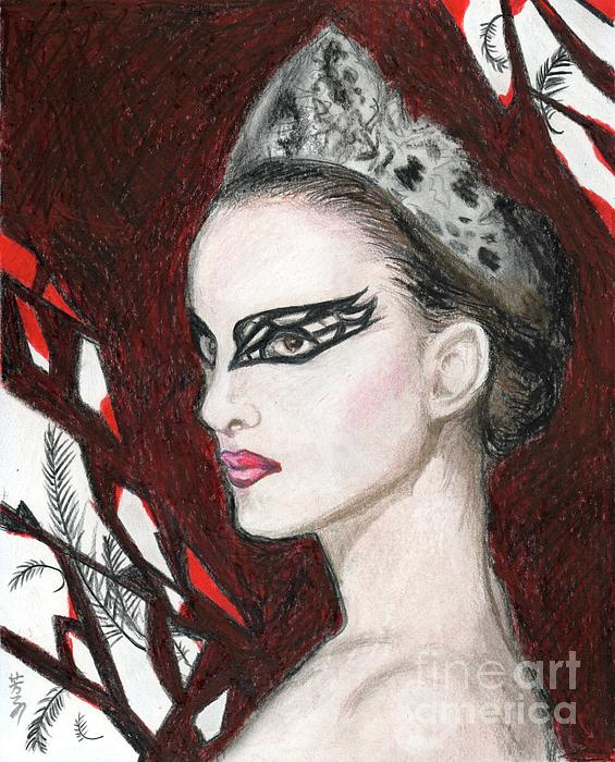 Natalie Portman In Black Swan Drawing - Natalie Portman In Black Swan Fine