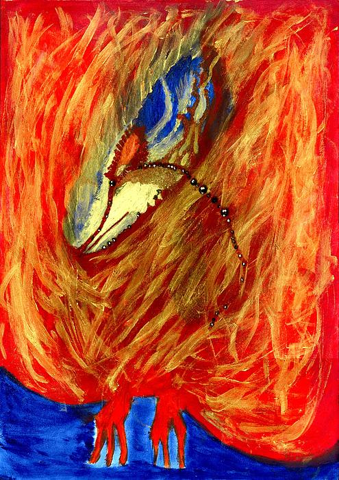 Sacred Bird 2 Painting by Ines De Soll - Sacred Bird 2 Fine Art ...