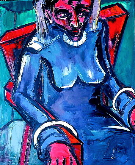 Kenneth Agnello - Seated Woman