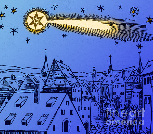 Illustration Photograph - The Great Comet Of 1556 by Science Source