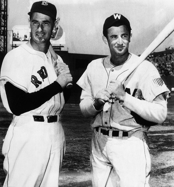 1940s Candid Photograph - Top Sluggers. Ted Williams by Everett