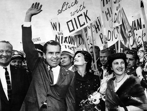 History Photograph - Vice President Richard Nixon And Wife by Everett