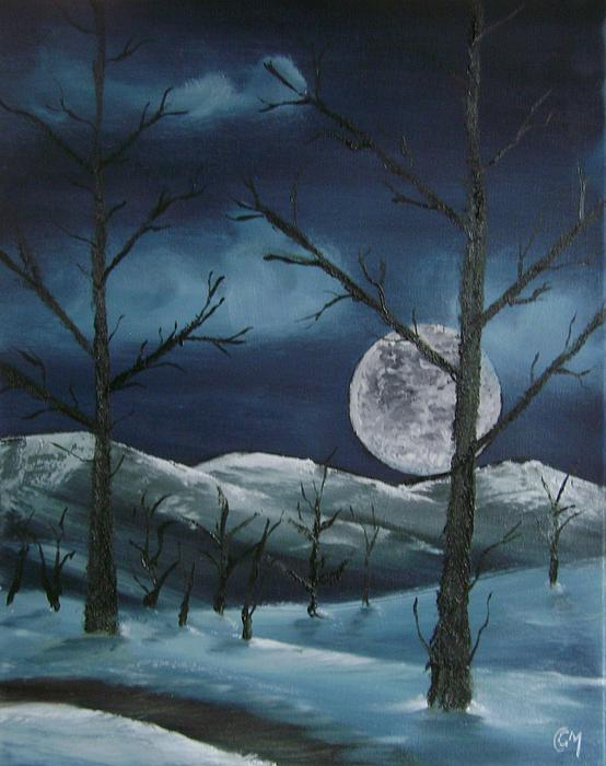 Winter Night Painting by Charles and Melisa Morrison