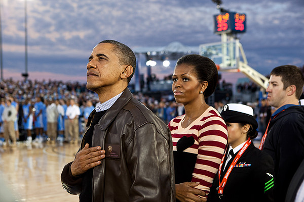 Photograph - President Barack Obama And First Lady by Everett
