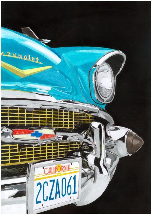 1957 Chevrolet Nomad Bel Air Painting - 1957 Chevrolet Nomad Bel Air Fine