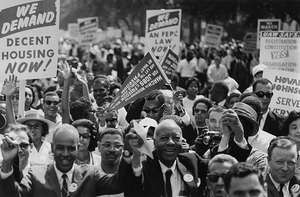 History Photograph - 1963 March On Washington. Close-up by Everett