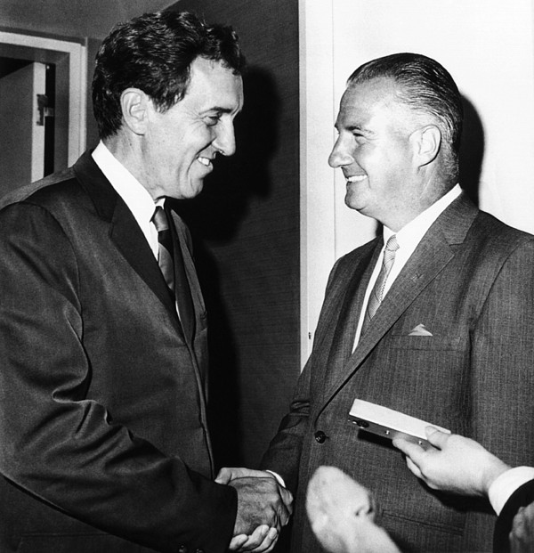History Photograph - 1968 Republican And Democratic Vice by Everett