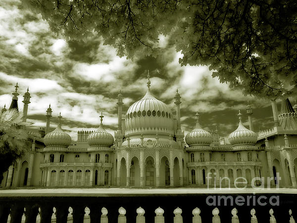 Brighton Royal Pavilion - Infrared Photograph  - Brighton Royal Pavilion - Infrared Fine Art Print