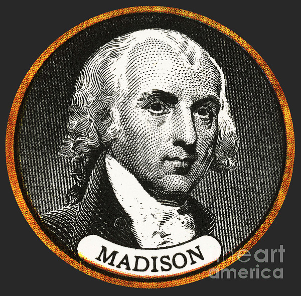 History Photograph - James Madison, 4th American President by Photo Researchers