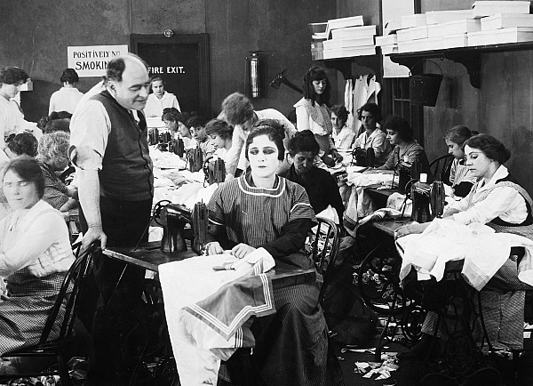 -sewing & Knitting- Photograph - Silent Film Still: Sewing by Granger