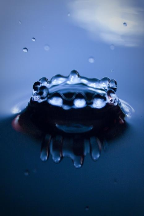 water droplet. Water Droplet Crown Photograph