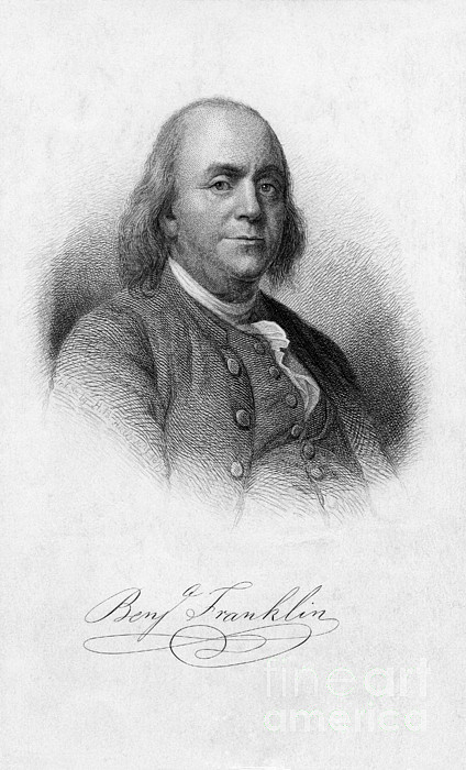 History Photograph - Benjamin Franklin, American Polymath by Photo Researchers