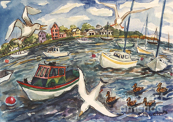 Cori Caputo - A Busy Day in the Harbor
