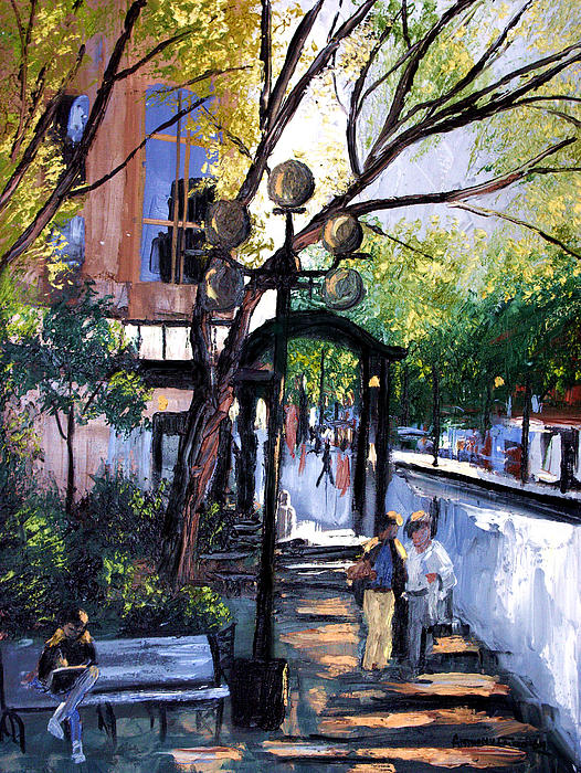 A Saturday Stroll Framed Prints Painting - A Saturday Stroll  by Anthony Falbo