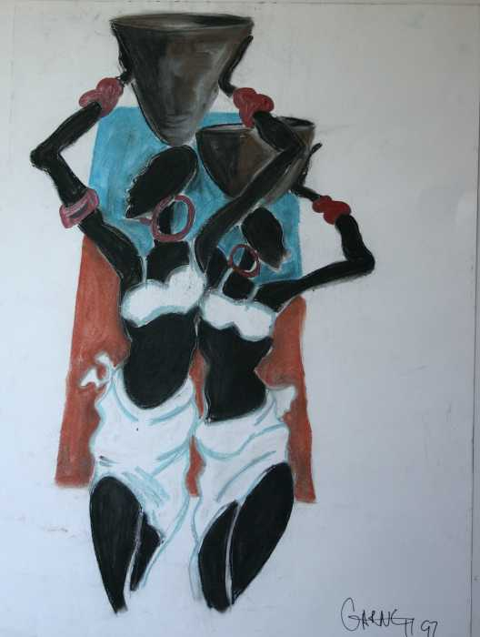 African Women Painting by Garnett Thompkins. Tags: paintings paintings