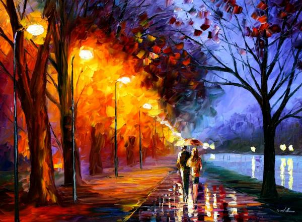 Leonid Afremov - Alley By The Lake