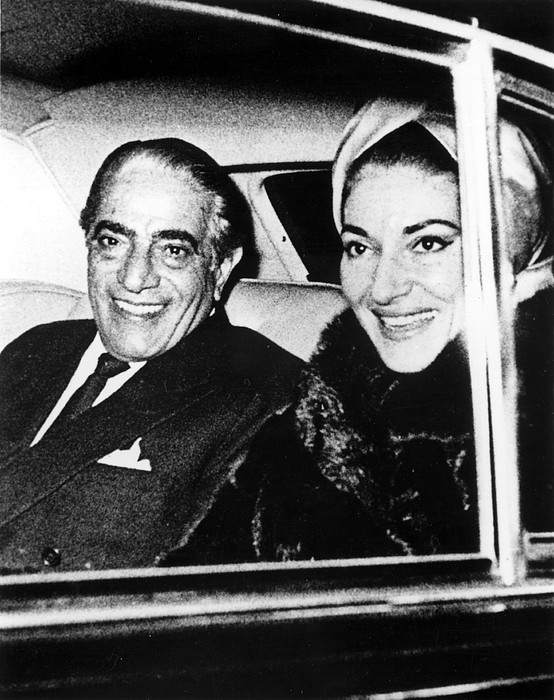Automobile Photograph - Aristotle Onassis And Maria Callas by Everett