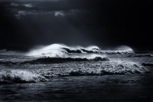 atlantic ocean photographs, waves photographs, black and white photography