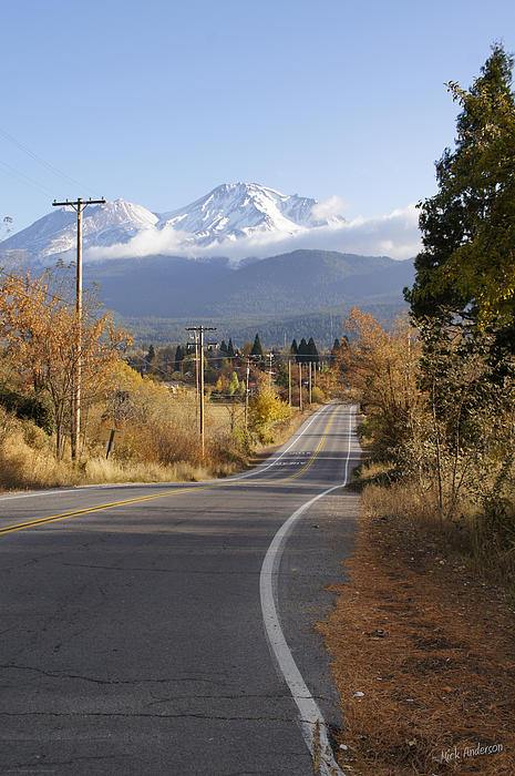 Mick Anderson - Autumn and Mt Shasta Down the Road
