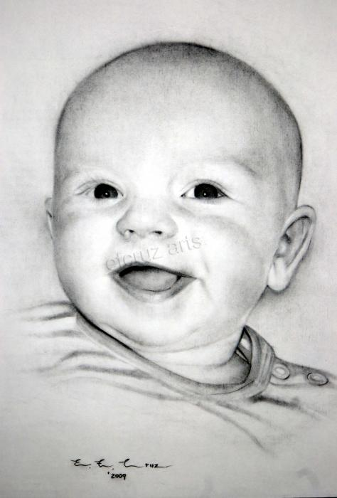 portrait drawing pencil. Baby Pencil Drawing Portrait