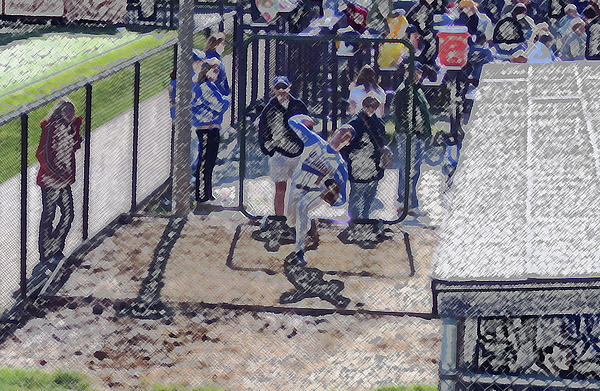Baseball Pitcher Warming Up Digital Art Digital Art  - Baseball Pitcher Warming Up Digital Art Fine Art Print