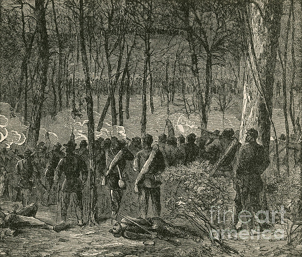 America Photograph - Battle Of The Wilderness, 1864 by Photo Researchers