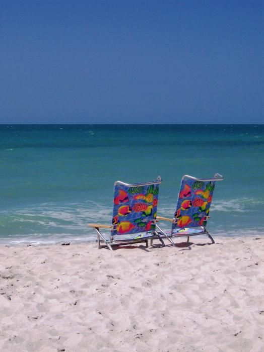 chairs on beach. Beach Chairs Photograph