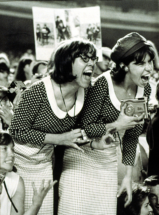 1960s Fashion Photograph - Beatles Fans Scream At A Concert by Everett