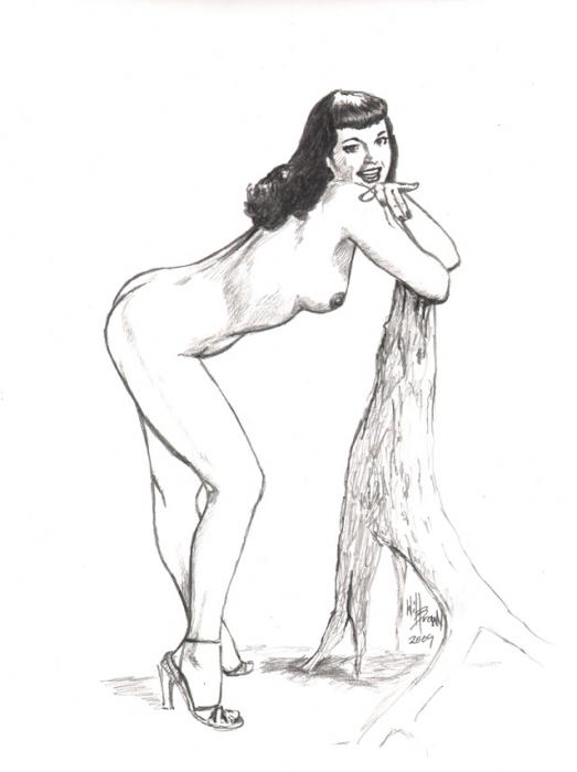 Betty Page nude Greeting Card