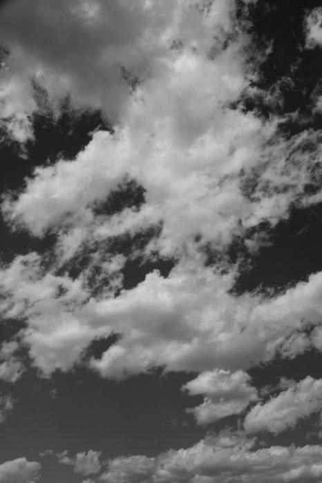 Black and White Clouds Photograph - Black and White Clouds Fine Art Print