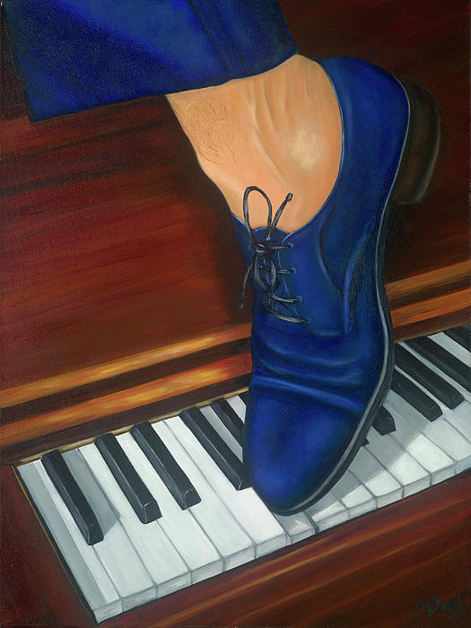 Blue Suede Shoes Painting  - Blue Suede Shoes Fine Art Print