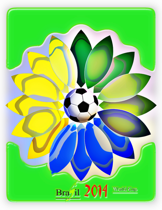 The FIFA 2014 Brazil World Cup logo. Posted on 17.