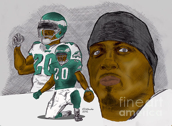 Brian Dawkins Full Color Drawing