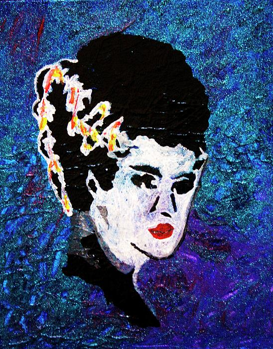 Bride Of Frankenstein Painting  - Bride Of Frankenstein Fine Art Print