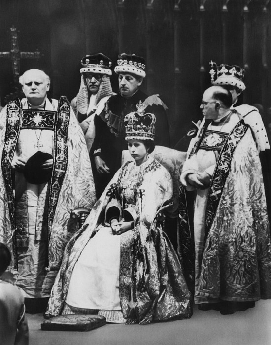 1950s Photograph - British Royalty. Front Row, From Left by Everett