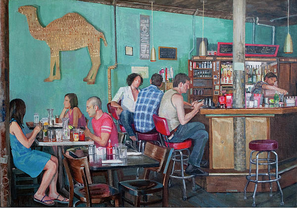 Brunch At Enids Painting  - Brunch At Enids Fine Art Print