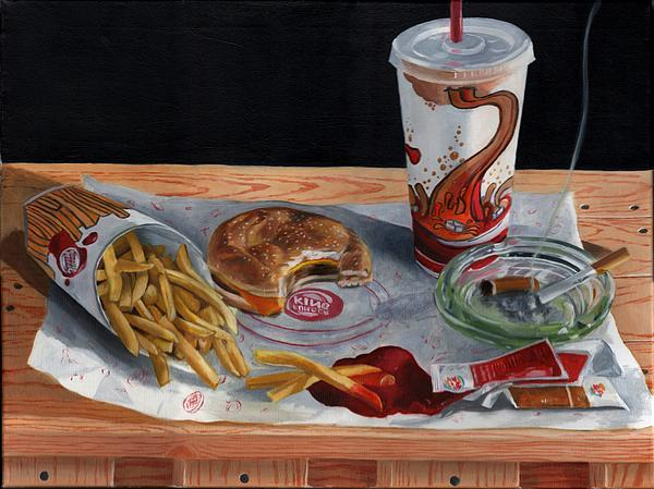 Burger King Value Meal No. 2 Painting  - Burger King Value Meal No. 2 Fine Art Print