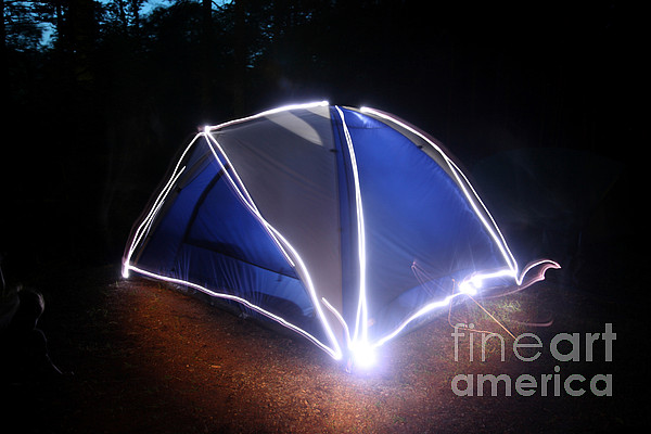 Tent Photograph - Camping by Ted Kinsman