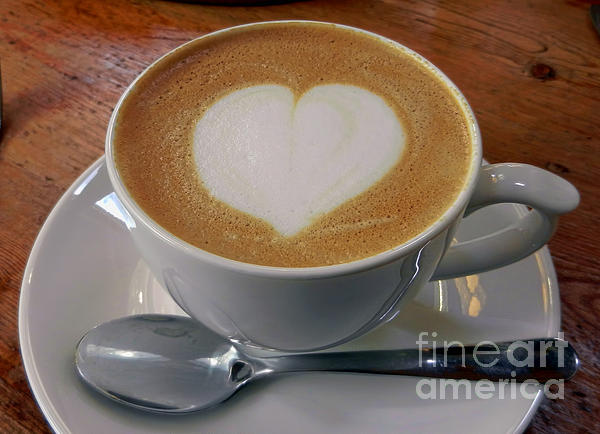 Cappuccino With A Heart Photograph  - Cappuccino With A Heart Fine Art Print