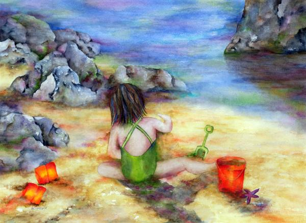 Castles In The Sand Painting