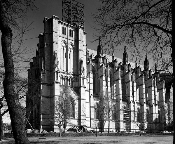 1940s Candid Photograph - Cathedral Of Saint John The Divine, New by Everett