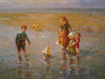 children playing. Children Playing Painting