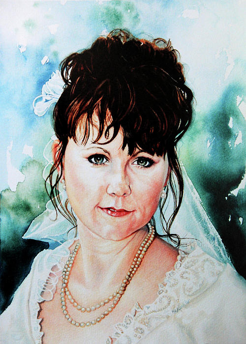 Christis Wedding Day Painting  - Christis Wedding Day Fine Art Print