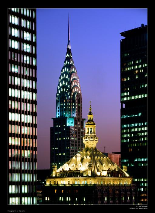 Chrysler Building and The New York Palace Hotel Photograph - Chrysler
