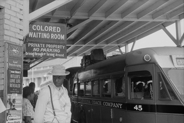 History Photograph - Colored Waiting Room Sign. African by Everett