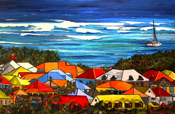 Colors Of St Martin Painting