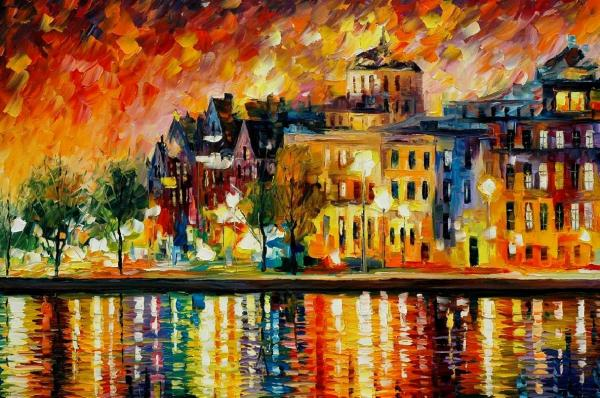 COPENHAGEN Original Oil Painting Painting - COPENHAGEN Original Oil Painting