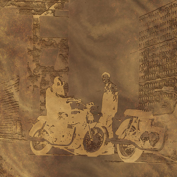 Radoslaw Kowzan - Copper Motorcycle Engraving