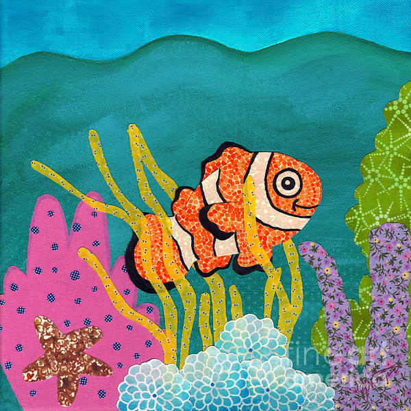 Janet Antepara - Coral Reef on Canvas III of IV