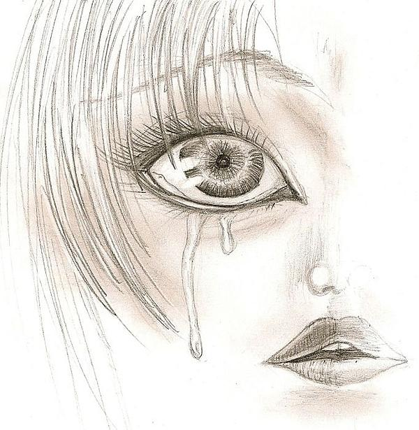 crying eyes drawing. Crying Eye Drawing - Crying